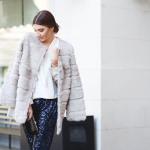 Sequins and fur