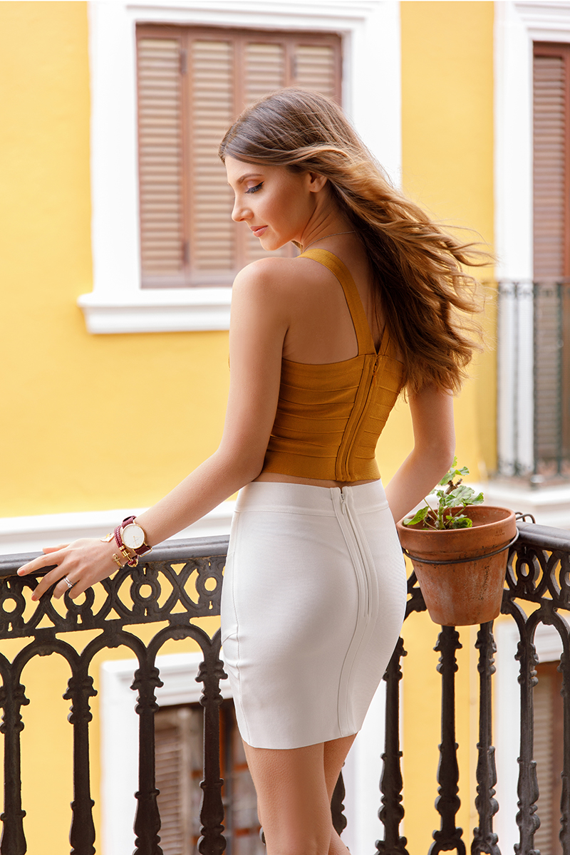 larisa costea, larisa costea blog, the mysterious girl, the mysterious girl blog, fashion blog, blogger, fashion, fashionista, it girl, travel blog, travel, traveler, ootd, lotd, outfit inspiration,look of the day,outfit of the day,what to wear, seville, sevilla,anadalucia, analusia, andaluzia, spain, espana,hotel, boutique hotel, alboba del rey, hotel alcoba del rey, outfit inspiration, white cape, white blazer, iglesia de macarena, seville old center, my bandage dress, mustard bandage top, white bandage skirt, white mini skirt, loose curls, golden sandals, joyas, joyas romania, sandale aurii, sandale joyas, paul hewitt, ceas paul hewitt,burgundy watch,anchor bracelet, burgundy bracelet,paul hewitt watch