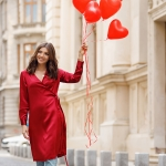 The red silk dress