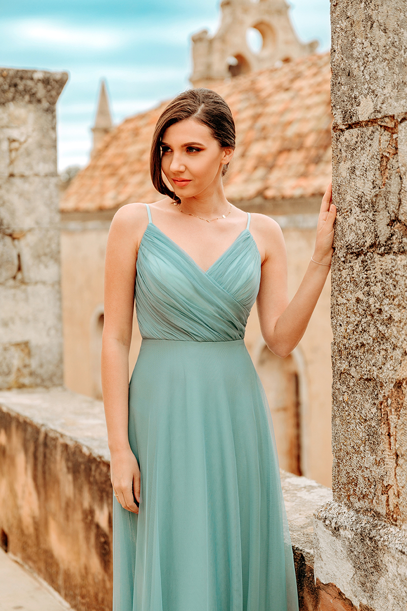 larisa costea, larisa costea blog, larisa style,larisa in greece, greece, crete,creta, creta 2019, arkadi, arkadi monastery,church, renaissance style,baroc, roman,amazing view, beautiful garden,rethymno, rethymnon,ever pretty, ever pretty dress, blue dress, tulle dress, prom dress,wedding guest, elegant dress, rochie de seara, rochie lunga,nunta, invitata la nunta, ootd, outfit inspiration, gala dress