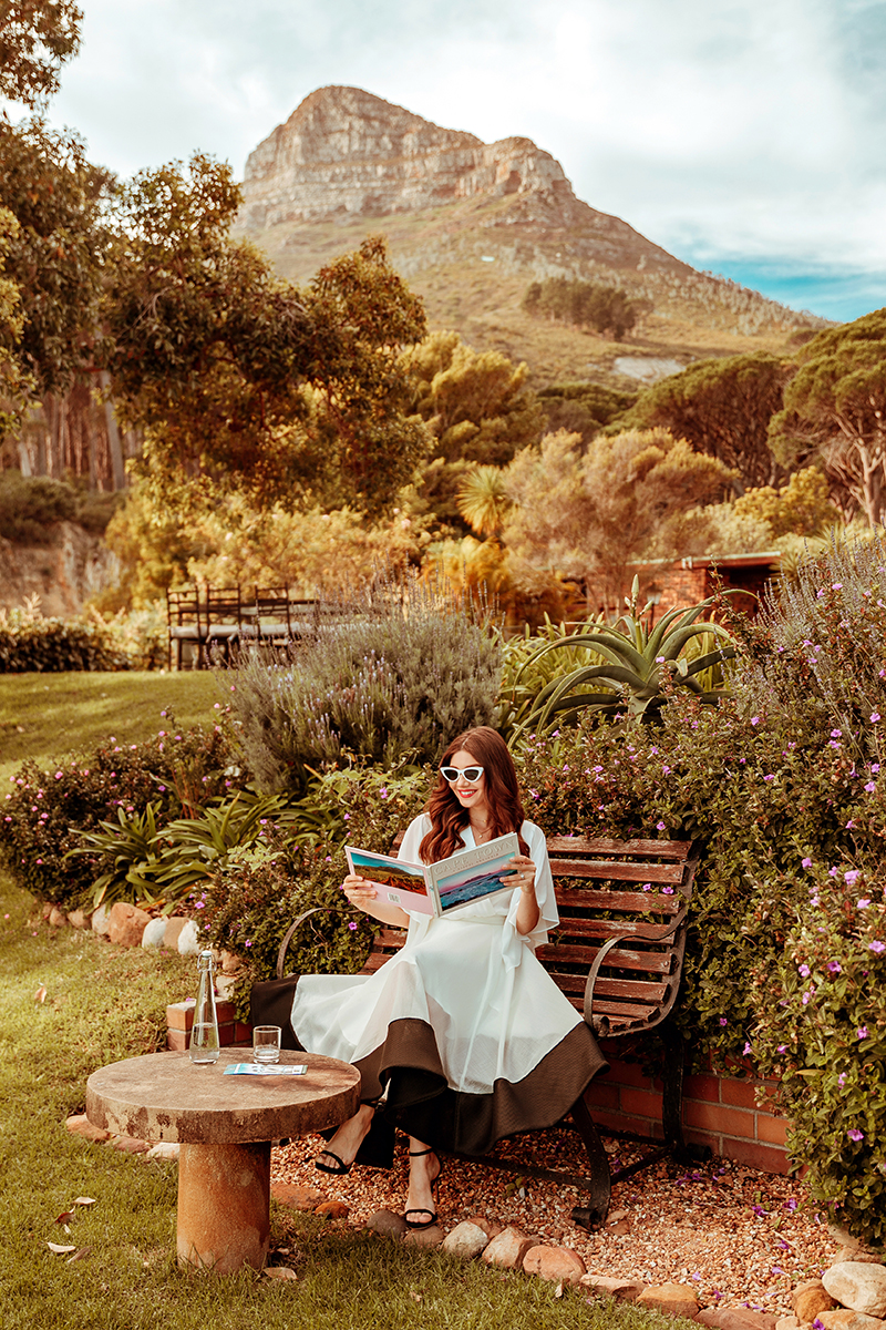 larisa costea, larisa costea blog,larisa style, larisa in south africa, south africa, cape town,suburb, camps bay, camps bay retreat, autumn in africa, africa, bengers, rescue dog, hotel, best hotels, bestdestionation, best vacation, holiday, how to spent a good rainy day,spa, retreat, relaxation, retro vibe, retro look, chicwish,summer outfit, cape white shirt, organza white skirt,white skirt, a line skirt,midi skirt, black and white outfit, retro sunnies, ootd, outfit inspiration,dolce vita, black sandals, anna cori