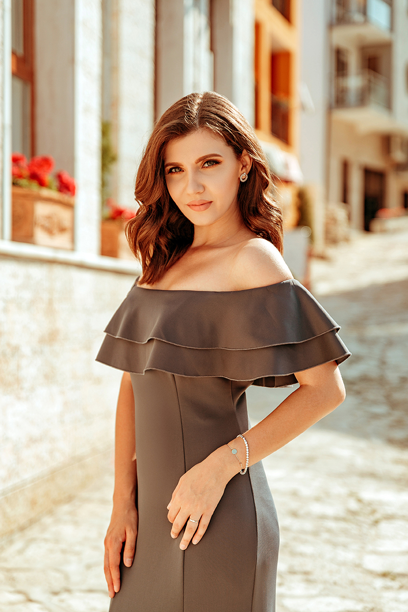 larisa costea,larisa style,larisa costea blog, ever pretty, wedding dress, grey dress, long dress, wedding guest,prom dress, bal dress, elegant dress, special occasion, balchik, balcic
