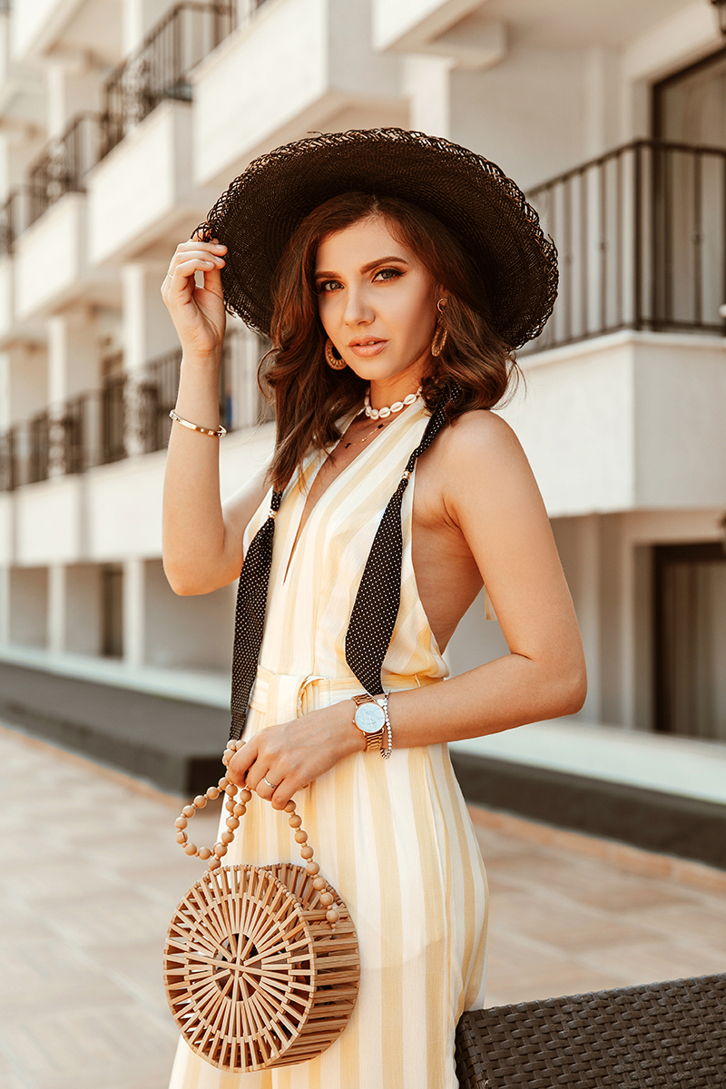 larisa costea,larisa costea blog, larisa style,larisa in bulgaria, balcic, balcik, balchic, botanical garden, queenmary botanical garden balchik, regina maria,gradina botanica a reginei maria, tularosa,jumpsuit, summer holiday, weekend escape, getaway, family vacation, striped jumpsuit, jellow stripes jumpsuit,long jumpsuit, btack straw hat, sensi studio hat,cult gata bag,bamboo bag, 10 euro dupe, primark, gold sandals,b the pool,pooltime,relax, fun,summer, vacation,best hotel, best destination, best location, short hair dont care,lob,long bob, new haircut, wood bag, bamboo bag, revolve, revolve me,revolve social club, bulgaria, hotel review, best destination, summer 2019