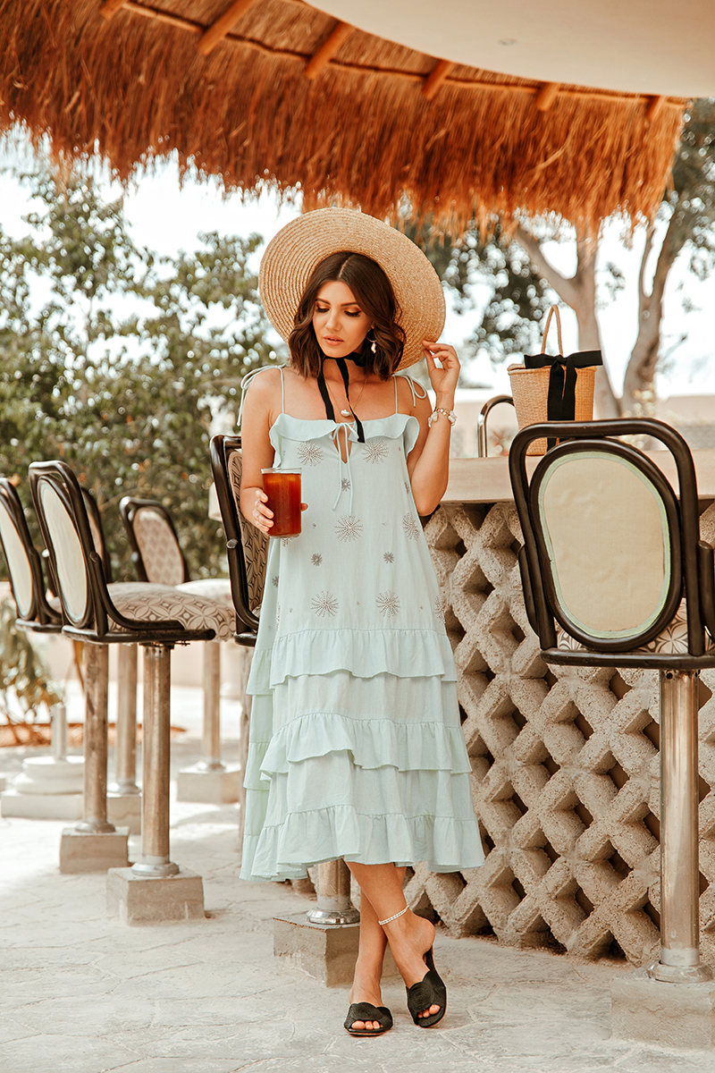 larisa costea, larisa costea blog, fashion blog, travel blog, traveler, larisa style, larisa in mexico, mexic, mexico, sundress flower pool dress, mint dress, summer dress, summer outfit, summer holiday look, best vacation, best destination, best hotel, vacation 2020, holiday 2020, waye hotel, valladolid, waye hotel de aui, best hotel in valladolid, yucatan, straw hat, asos hat, outfit inspiration, straw slippers, raye slides, revolve, sundress.fr, tropical vibes, boho look, boho vibe