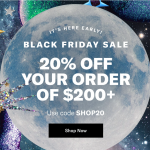 Black Friday on Shopbop 2020