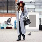 The grey long coat