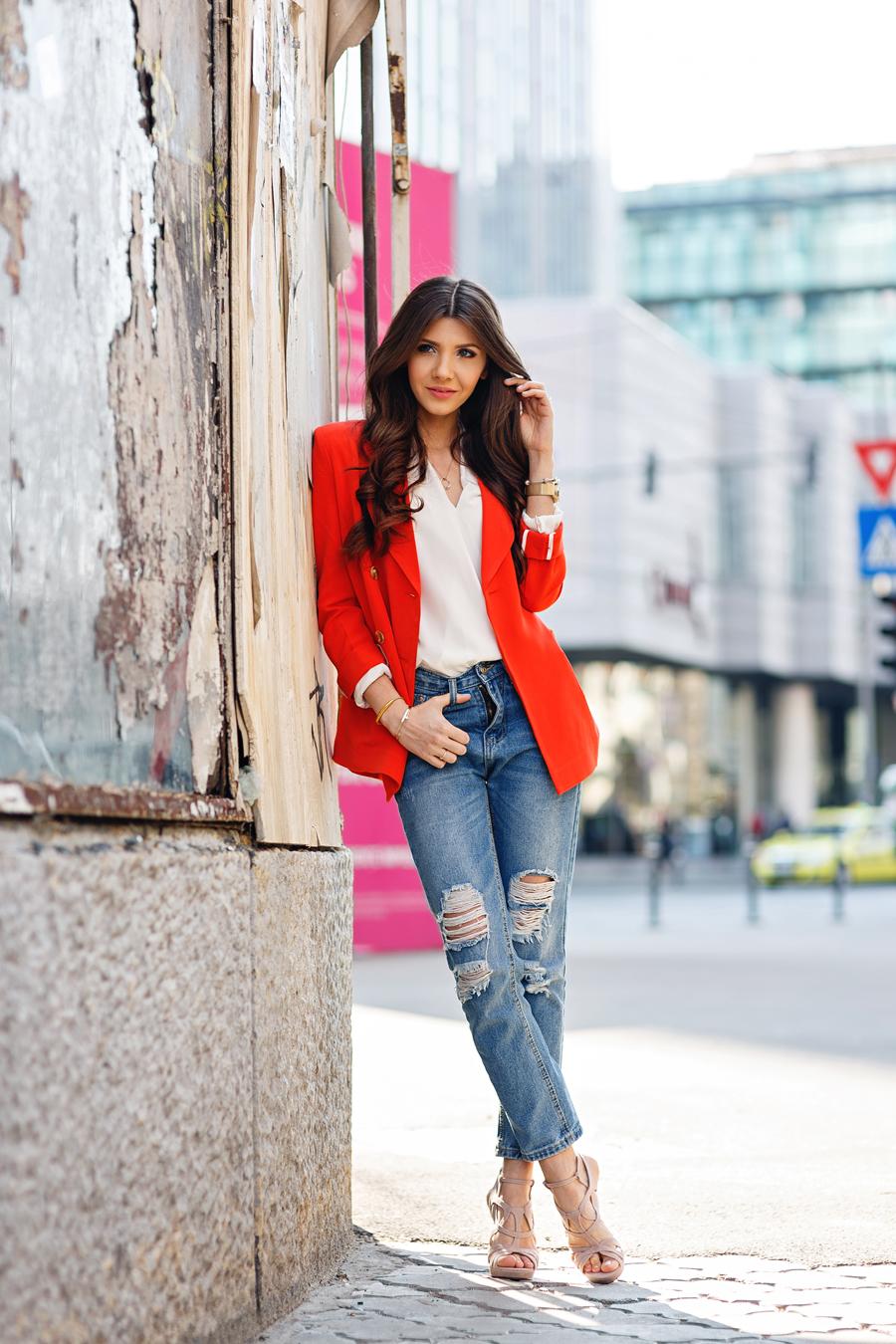 Fashion week How to orange wear blazer for lady